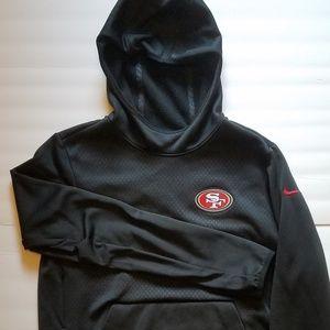 New Nike Thermafit SF 49ers Hooded NFL Sweatshirt